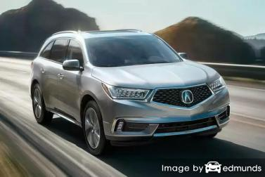 Insurance rates Acura MDX in Memphis