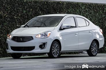 Insurance rates Mitsubishi Mirage G4 in Memphis